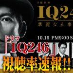 【速報】「IQ246」2話視聴率!IQ246がどれくらいスゴイか調べた結果www